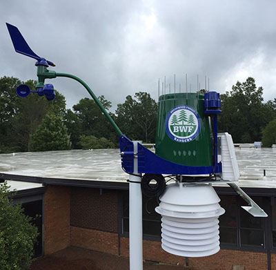 BWF installs WeatherSTEM in outdoor learning laboratory