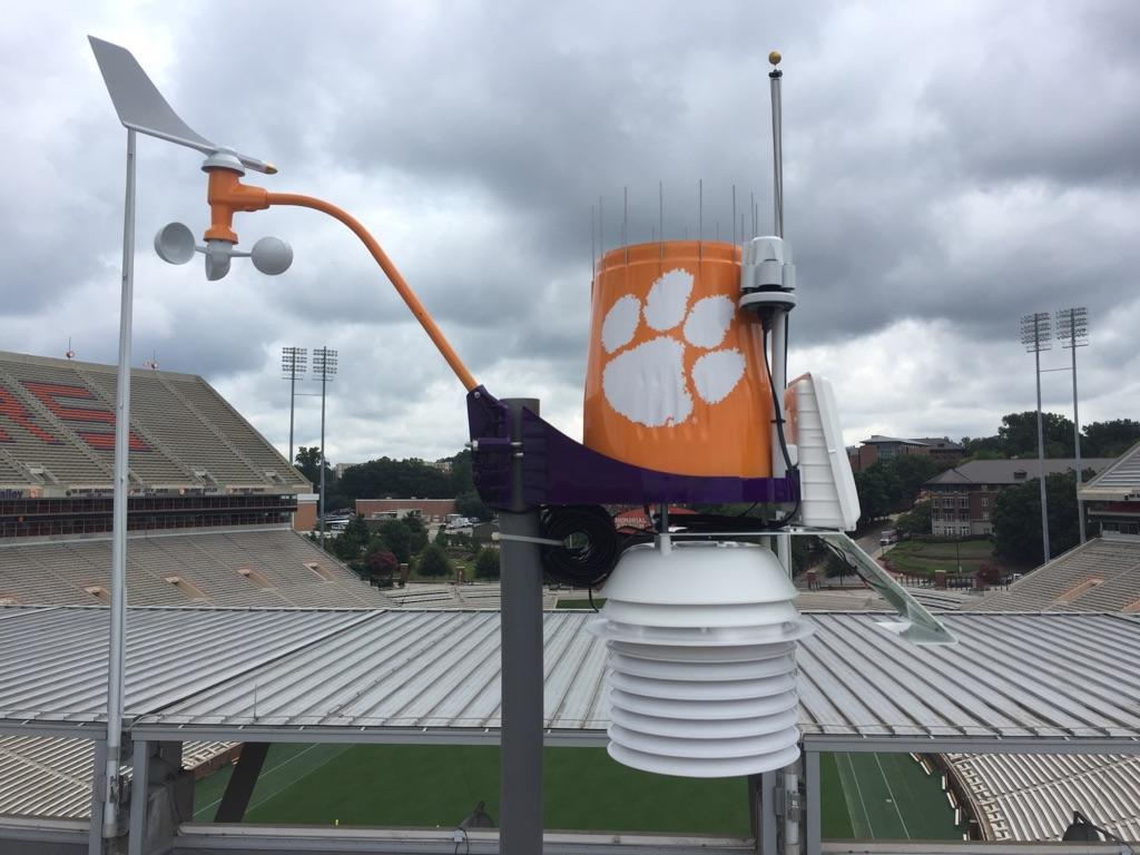 WeatherSTEM donates weather station for Clemson Memorial Stadium