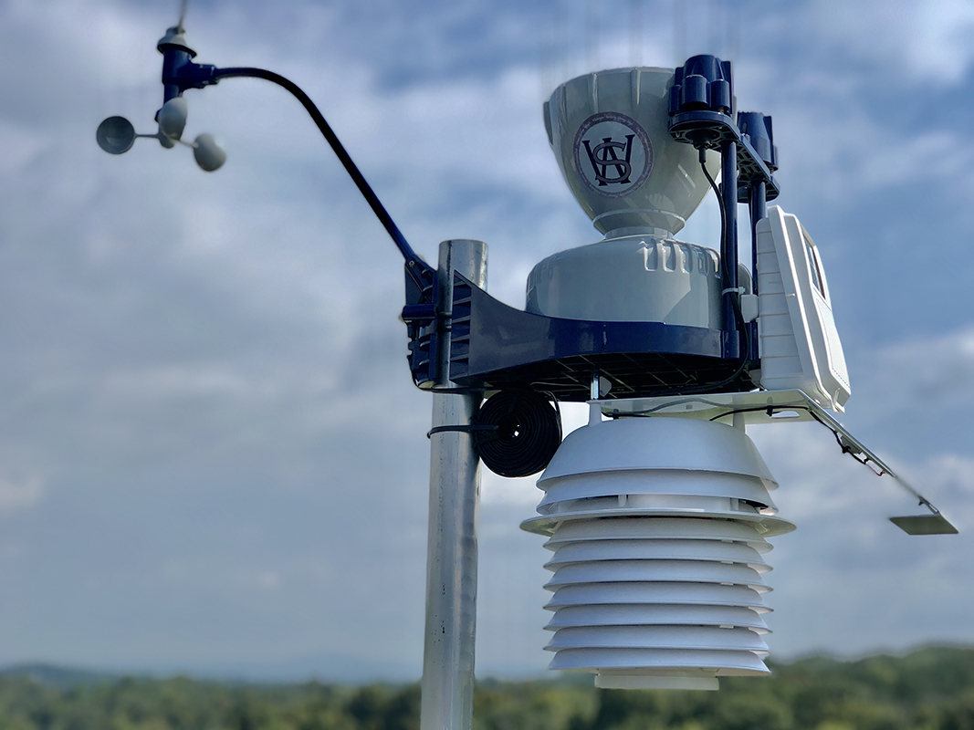 Middle school has new high-tech weather station for science and math